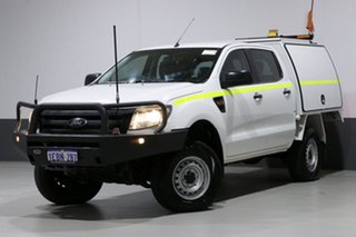 2012 Ford Ranger PX XL 3.2 (4x4) White 6 Speed Automatic Dual Cab Chassis.