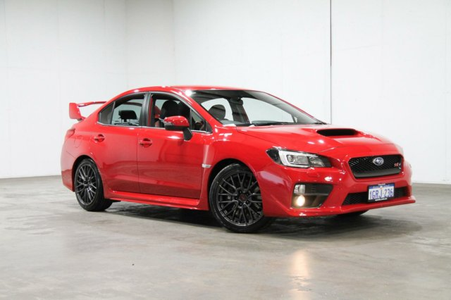 Used Subaru WRX V1 MY15 STI AWD, 2015 Subaru WRX V1 MY15 STI AWD Red 6 Speed Manual Sedan