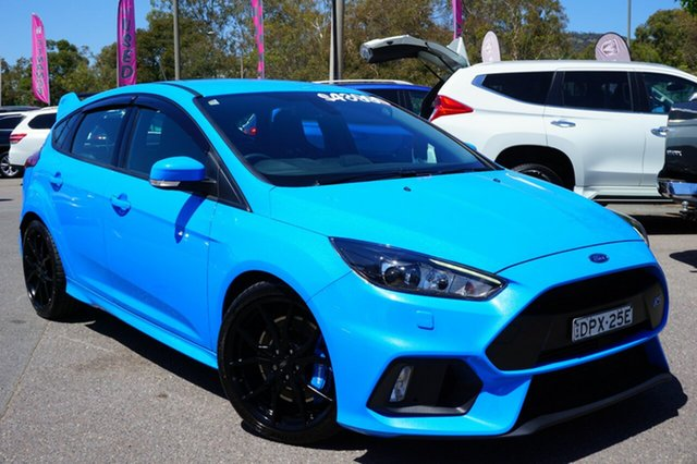 Used Ford Focus LZ RS AWD, 2017 Ford Focus LZ RS AWD Blue 6 Speed Manual Hatchback