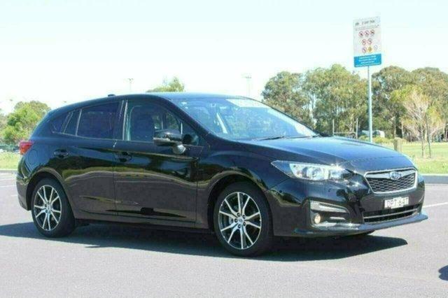 Used Subaru Impreza G5 MY18 2.0i Premium CVT AWD, 2017 Subaru Impreza G5 MY18 2.0i Premium CVT AWD Black Constant Variable Hatchback