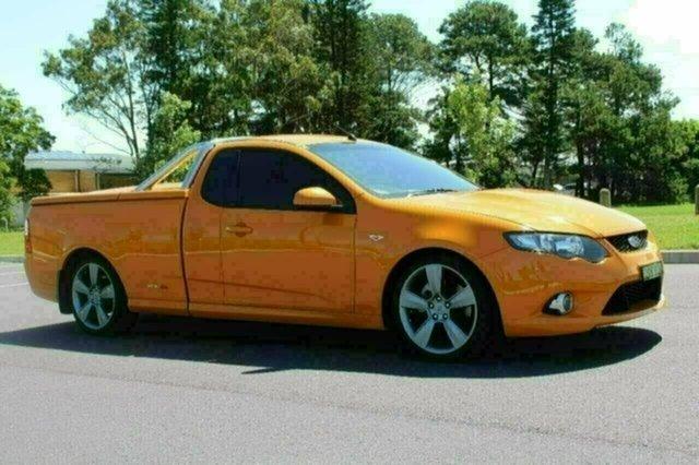 Used Ford Falcon FG XR8, 2009 Ford Falcon FG XR8 Orange 6 Speed Auto Seq Sportshift Utility