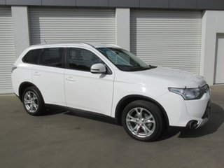 2014 Mitsubishi Outlander ZJ MY14.5 LS 4WD White 6 Speed Sports Automatic Wagon.