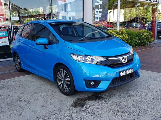 Used Honda Jazz GF MY15 VTi-L, 2014 Honda Jazz GF MY15 VTi-L Blue 1 Speed Constant Variable Hatchback