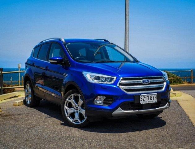 Used Ford Escape ZG Titanium, 2017 Ford Escape ZG Titanium Blue 6 Speed Sports Automatic Dual Clutch Wagon
