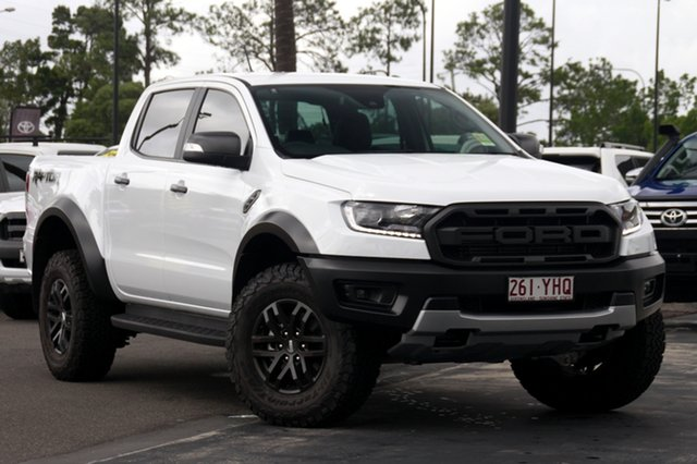 Demo Ford Ranger PX MkIII 2019.00MY Raptor Pick-up Double Cab, 2018 Ford Ranger PX MkIII 2019.00MY Raptor Pick-up Double Cab Frozen White 10 Speed Sports Automatic