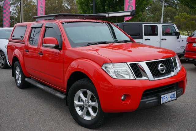 Used Nissan Navara D40 S7 ST, 2014 Nissan Navara D40 S7 ST Flame Red 5 Speed Sports Automatic Utility