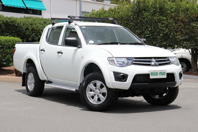 Used Mitsubishi Triton MN MY13 GLX Double Cab, 2013 Mitsubishi Triton MN MY13 GLX Double Cab White 4 Speed Sports Automatic Utility