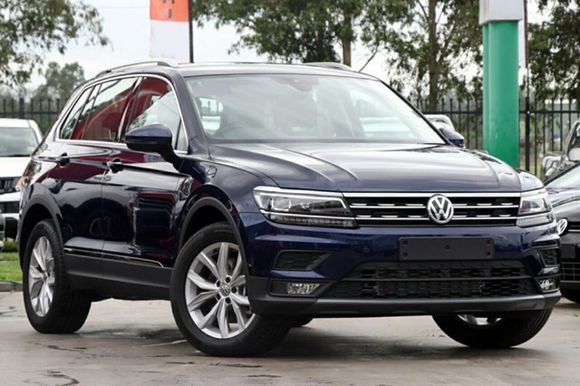 New Volkswagen Tiguan 5N MY19 132TSI DSG 4MOTION Comfortline, 2018 Volkswagen Tiguan 5N MY19 132TSI DSG 4MOTION Comfortline Atlantic Blue 7 Speed