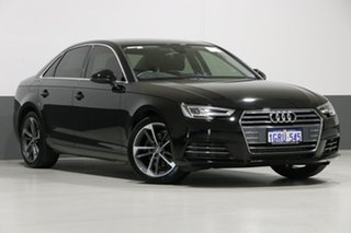 2017 Audi A4 F4 MY17 (B9) 2.0 Tfsi S Tronic Sport Mythos Black 7 Speed Auto Dual Clutch Sedan.