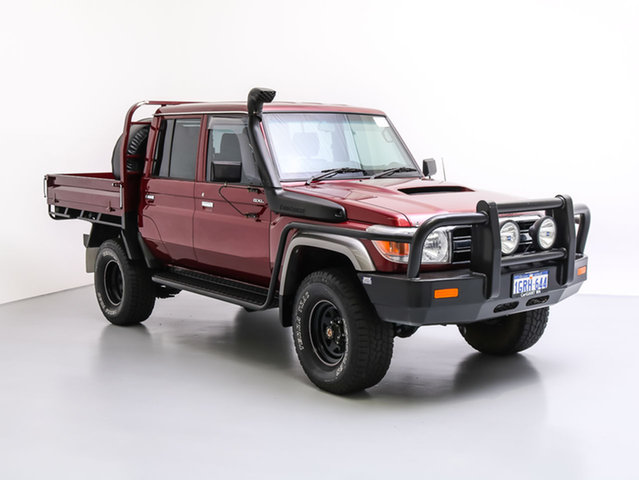 Used Toyota Landcruiser VDJ79R MY12 Update GXL (4x4), 2015 Toyota Landcruiser VDJ79R MY12 Update GXL (4x4) Merlot 5 Speed Manual Double Cab Chassis