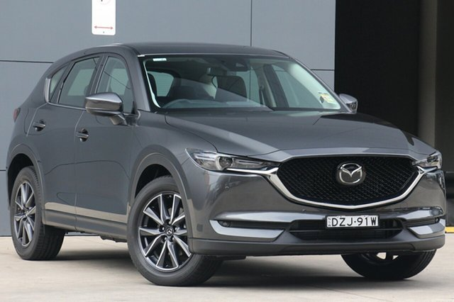 Demo Mazda CX-5 KF4W2A GT SKYACTIV-Drive i-ACTIV AWD, 2018 Mazda CX-5 KF4W2A GT SKYACTIV-Drive i-ACTIV AWD Machine Grey 6 Speed Sports Automatic Wagon
