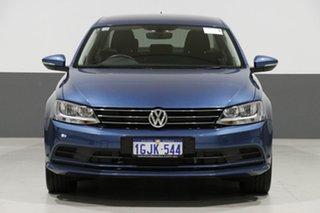 2017 Volkswagen Jetta 1KM MY17 118 TSI Comfortline Blue 7 Speed Auto Direct Shift Sedan.