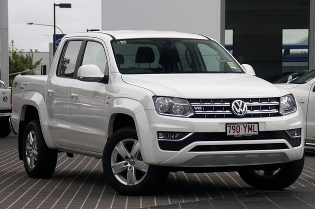 Demo Volkswagen Amarok 2H MY18 TDI550 4MOTION Perm Sportline, 2018 Volkswagen Amarok 2H MY18 TDI550 4MOTION Perm Sportline Candy White 8 Speed Automatic Utility
