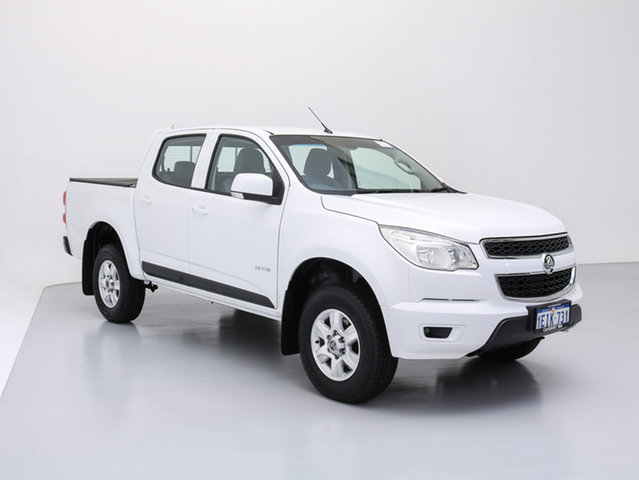 Used Holden Colorado RG LT (4x2), 2013 Holden Colorado RG LT (4x2) White 6 Speed Automatic Crew Cab Pickup