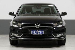 2015 Volkswagen Passat 3C MY15 118 TSI Black 7 Speed Auto Direct Shift Sedan.