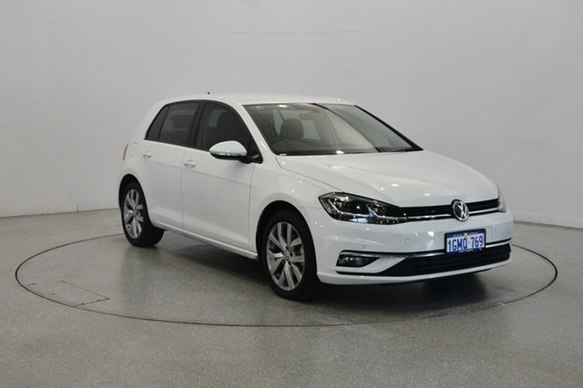 Used Volkswagen Golf 7.5 MY18 110TDI DSG Highline, 2017 Volkswagen Golf 7.5 MY18 110TDI DSG Highline Pure White 7 Speed Sports Automatic Dual Clutch
