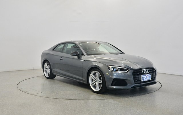 Used Audi A5 F5 MY18 Sport S tronic quattro, 2017 Audi A5 F5 MY18 Sport S tronic quattro Grey 7 Speed Sports Automatic Dual Clutch Coupe