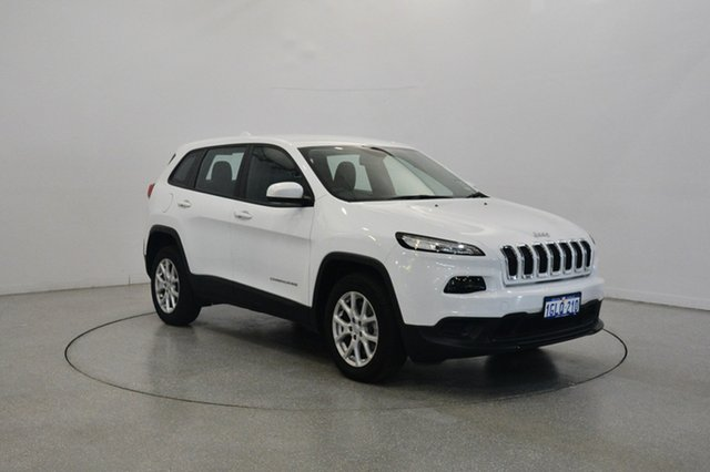 Used Jeep Cherokee KL MY17 Sport, 2017 Jeep Cherokee KL MY17 Sport Bright White 9 Speed Sports Automatic Wagon