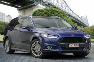 2015 Ford Mondeo MD Titanium PwrShift Blue 6 Speed Sports Automatic Dual Clutch Wagon.