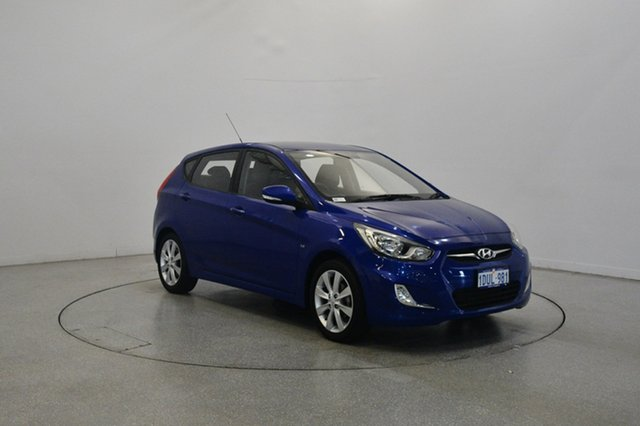 Used Hyundai Accent RB Elite, 2011 Hyundai Accent RB Elite Blue 4 Speed Sports Automatic Hatchback