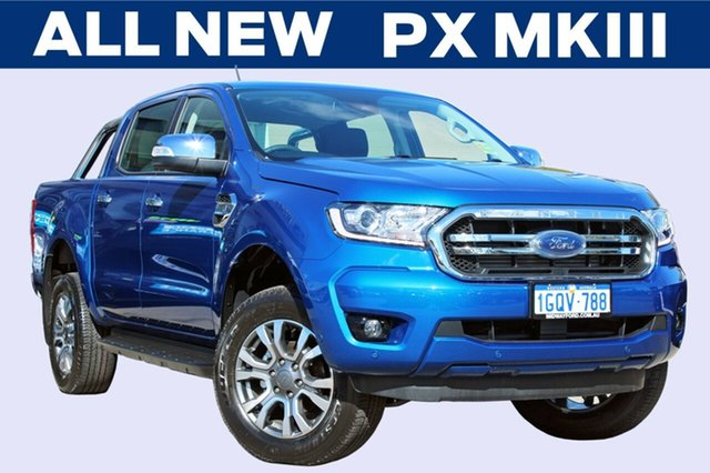 Demo Ford Ranger  XLT Pick-up Double Cab, 2018 Ford Ranger PX MKIII 2019.0 XLT Pick-up Double Cab Blue Lightning 6 Speed Sports Automatic