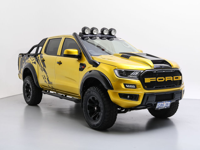 Used Ford Ranger PX XL 3.2 (4x4), 2013 Ford Ranger PX XL 3.2 (4x4) Yellow 6 Speed Automatic Dual Cab Chassis