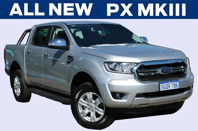 Demo Ford Ranger  XLT Pick-up Double Cab, 2018 Ford Ranger PX MkIII 2019.0 XLT Pick-up Double Cab Ingot Silver 6 Speed Sports Automatic