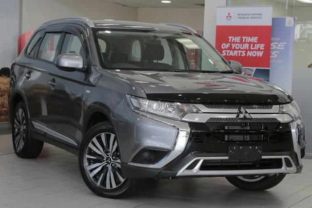 New Mitsubishi Outlander ZL MY19 ES 7 Seat (2WD), 2018 Mitsubishi Outlander ZL MY19 ES 7 Seat (2WD) Titanium Grey Continuous Variable Wagon