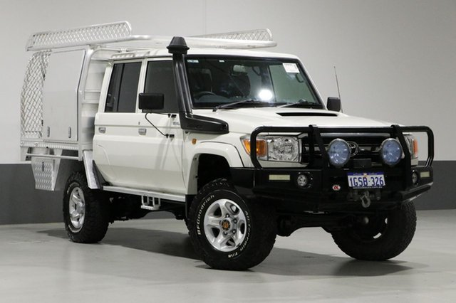 Used Toyota Landcruiser VDJ79R MY12 Update GXL (4x4), 2013 Toyota Landcruiser VDJ79R MY12 Update GXL (4x4) White 5 Speed Manual Double Cab Chassis