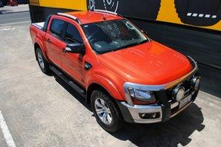 2012 Ford Ranger PX Wildtrak Double Cab Chilli Orange 6 Speed Manual Utility
