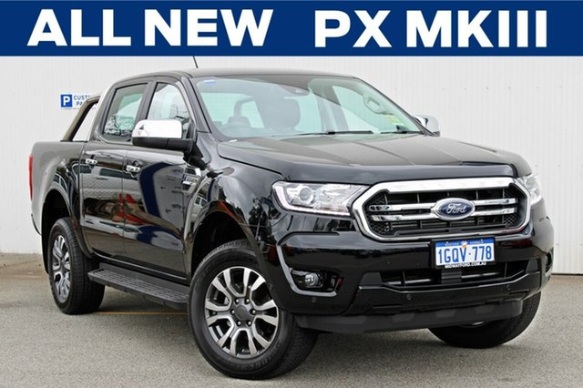 Demo Ford Ranger  XLT Pick-up Double Cab, 2018 Ford Ranger PX MKIII 2019.0 XLT Pick-up Double Cab Shadow Black 6 Speed Sports Automatic