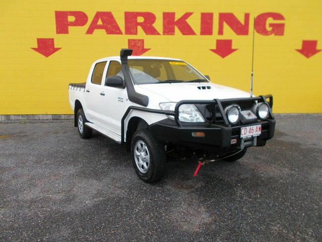 Used Toyota Hilux KUN26R MY12 SR, 2010 Toyota Hilux KUN26R MY12 SR White 5 Speed Manual Dual Cab