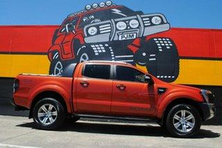 2012 Ford Ranger PX Wildtrak Double Cab Chilli Orange 6 Speed Manual Utility.