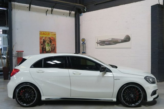 Used Mercedes-Benz A45 W176 AMG SPEEDSHIFT DCT 4MATIC, 2014 Mercedes-Benz A45 W176 AMG SPEEDSHIFT DCT 4MATIC White 7 Speed Sports Automatic Dual Clutch