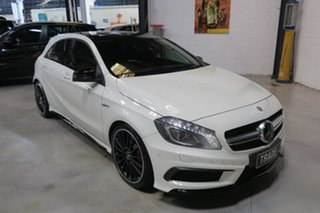 2014 Mercedes-Benz A45 W176 AMG SPEEDSHIFT DCT 4MATIC White 7 Speed Sports Automatic Dual Clutch.
