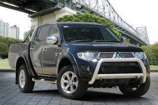 2012 Mitsubishi Triton MN MY12 GLX-R Double Cab Black 5 Speed Manual Utility.