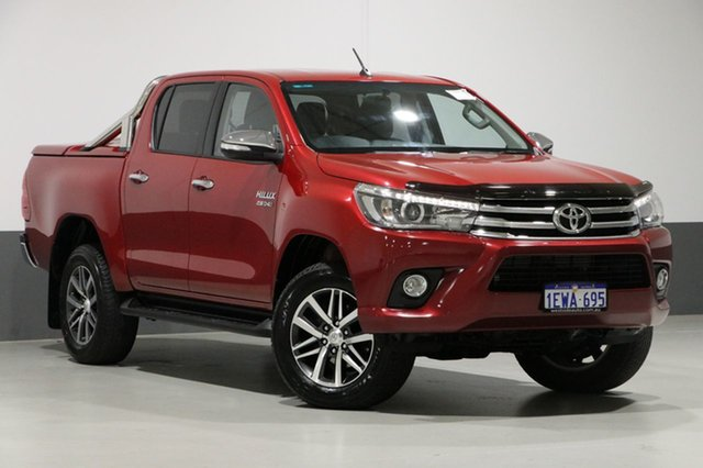 Used Toyota Hilux GUN126R SR5 (4x4), 2015 Toyota Hilux GUN126R SR5 (4x4) Red 6 Speed Automatic Dual Cab Utility