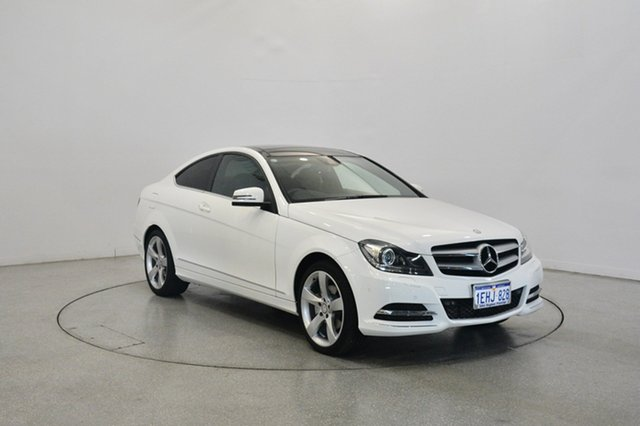 Used Mercedes-Benz C250 C204 MY13 7G-Tronic +, 2013 Mercedes-Benz C250 C204 MY13 7G-Tronic + White 7 Speed Sports Automatic Coupe