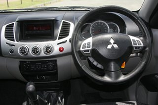 2012 Mitsubishi Triton MN MY12 GLX-R Double Cab Black 5 Speed Manual Utility
