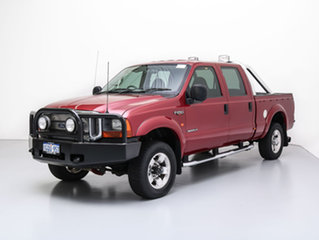 2004 Ford F250 RN XLT (4x4) Red 4 Speed Automatic Crew Cab Pickup.