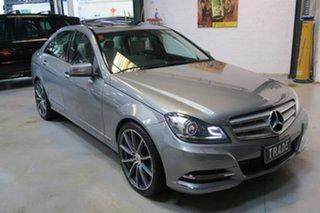 2012 Mercedes-Benz C250 W204 MY13 BlueEFFICIENCY 7G-Tronic + Avantgarde Silver 7 Speed.