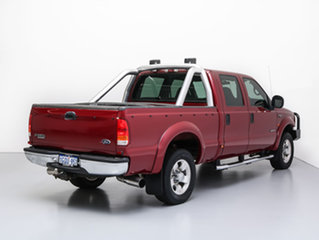 2004 Ford F250 RN XLT (4x4) Red 4 Speed Automatic Crew Cab Pickup