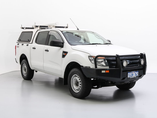 Used Ford Ranger PX XL 3.2 (4x4), 2012 Ford Ranger PX XL 3.2 (4x4) White 6 Speed Automatic Dual Cab Utility