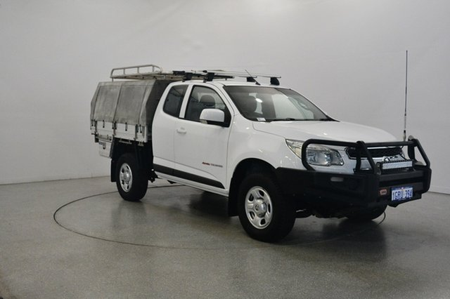 Used Holden Colorado RG MY16 LS Space Cab, 2015 Holden Colorado RG MY16 LS Space Cab White 6 Speed Sports Automatic Cab Chassis