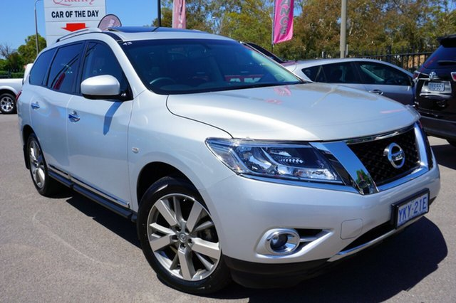 Used Nissan Pathfinder R52 MY15 Ti X-tronic 2WD, 2015 Nissan Pathfinder R52 MY15 Ti X-tronic 2WD Brilliant Silver 1 Speed Constant Variable Wagon