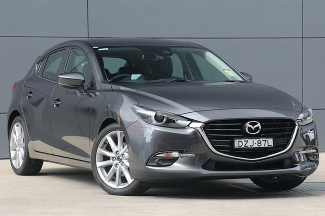 Demo Mazda 3 BN5438 SP25 SKYACTIV-Drive GT, 2018 Mazda 3 BN5438 SP25 SKYACTIV-Drive GT Machine Grey 6 Speed Sports Automatic Hatchback