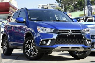 2018 Mitsubishi ASX XC MY19 LS (2WD) Lightning Blue Continuous Variable Wagon.