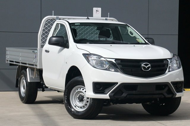New Mazda BT-50 UR0YE1 XT 4x2 Hi-Rider, 2018 Mazda BT-50 UR0YE1 XT 4x2 Hi-Rider Cool White 6 Speed Sports Automatic Cab Chassis