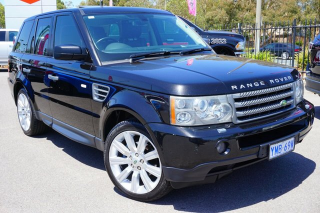 Used Land Rover Range Rover Sport L320 08MY TDV6, 2008 Land Rover Range Rover Sport L320 08MY TDV6 Black 6 Speed Sports Automatic Wagon