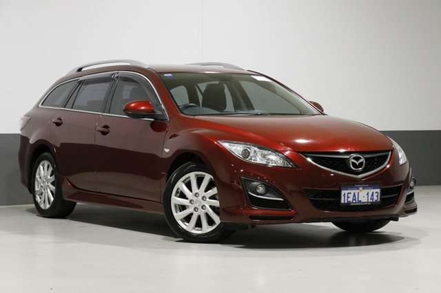 Used Mazda 6 GH MY11 Touring, 2012 Mazda 6 GH MY11 Touring Burgundy 5 Speed Auto Activematic Wagon